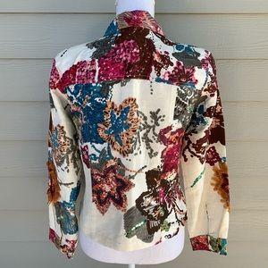 Sandy Starkman Jackets & Coats - Beaded Boho Silk Sandy Starkman Jacket